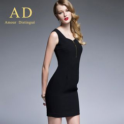 Aision - Single-Button Blazer / Tank Dress