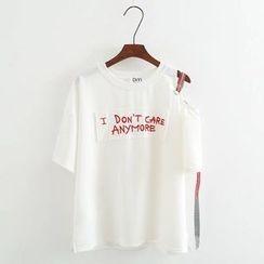 Angel Love - Short-Sleeve Lettering T-Shirt