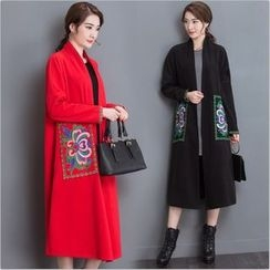 chic n' fab - Embroidered Woolen Coat