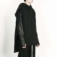 Rememberclick - Rope-Detailed Hoodie Pancho