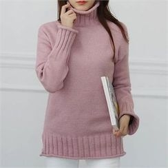 CHICFOX - Turtle-Neck Knit Sweater