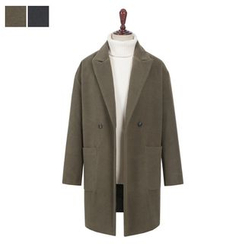 DANGOON - Peaked-Lapel Double-Breasted Coat