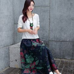 Romantica - Set: Top + Floral Maxi Skirt