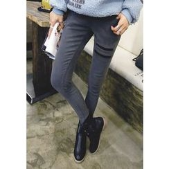 REDOPIN - Elastic-Waist Skinny Pants