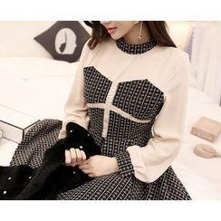 Marlangrouge - Color-Block A-Line Mini Dress