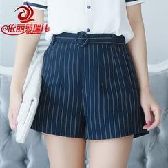Elisa Rachel - Striped Wide Leg Shorts