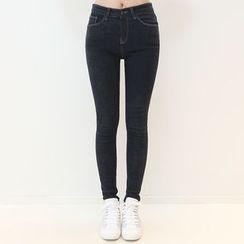 DANI LOVE - Brushed-Fleece Lined Skinny Pants