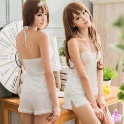 Ayoka - 细致柔缎睡衣套装