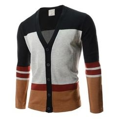 TheLees - Color-Block V-Neck Cardigan