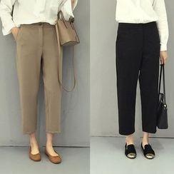 Kojasmine - Plain Cropped Pants