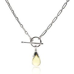 Bellini - Round Toggle Lemon Quartz Briolette Necklace