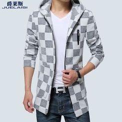 Jazz Boy - Plaid Hooded Coat