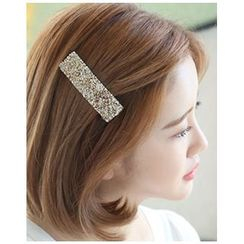 Miss21 Korea - Rhinestone Wide Hair Barrette