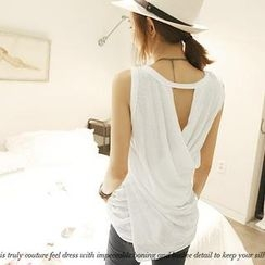 NANING9 - Cross-Back Tank Top