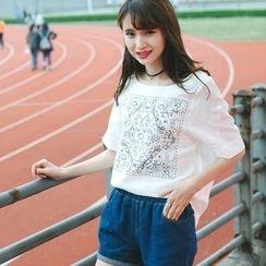 微米家 - 印花宽松短袖T恤