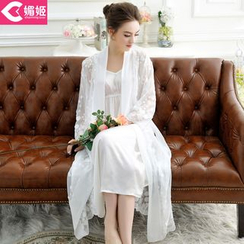 Charming Lover - Set: Lace Robe + Nightgown