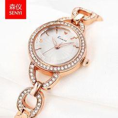 SENYI - 水钻金属带手表