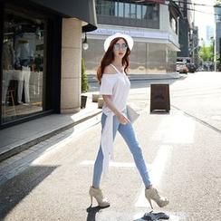 粉红大布娃娃 - 紧身牛仔裤