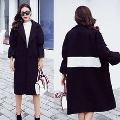 Ekim - Colour Block Wool Coat