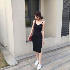 ALIN STYLE - Slit Side Bodycon Dress