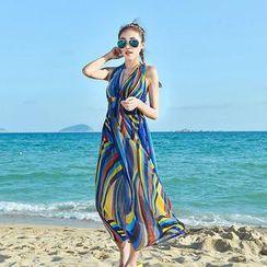 Rachel Swimwear - 套裝: 印花比基尼 + 無袖掛脖連衣裙