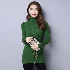 AiSun - Turtleneck Knit Top