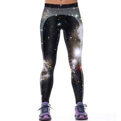 Omifa - Starry Night Print Leggings
