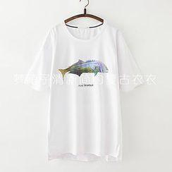 ninna nanna - Fish Print T-Shirt