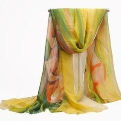 羚羊早安 - 超大雪紡紗巾絲巾