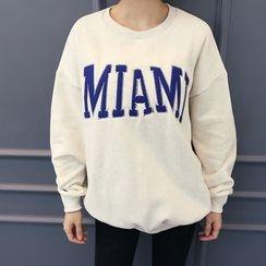 DANI LOVE - Cotton Print Sweatshirt