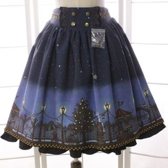 Reine - Printed Pleated Skirt