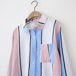 LEMONADE - Long-Sleeve Striped Blouse