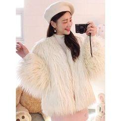 icecream12 - Faux-Fur Jacket