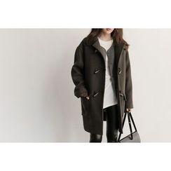 UPTOWNHOLIC - Toggle-Button Wool Blend Coat