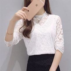 DAZZ - Long Sleeve Lace Top
