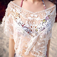 Sunset Hours - Crochet Beach Cover-Up Top