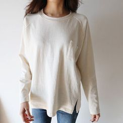 Hello sweety - Raglan-Sleeve Pocket-Front T-Shirt