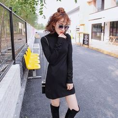 Tang House - Mock Neck Long-Sleeve Dress