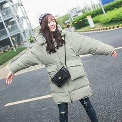 7th Mansion - Plain Hooded Long Padded Coat