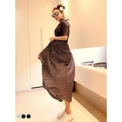 PINKFIT - Suspender Dotted Chiffon Skirt