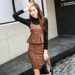 Romantica - Set: Top + Printed Camisole + Skirt