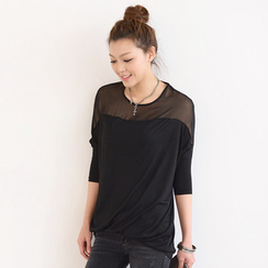 SO Central - Sheer Yoke Oversized Tunic