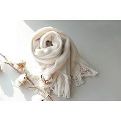 UPTOWNHOLIC - Tassel-Detail Knit Scarf