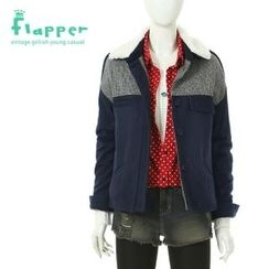 Flapper - Check Panel Button-Down Jacket