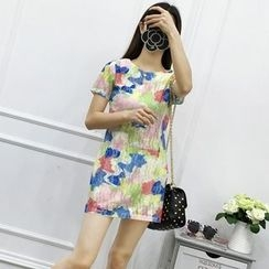 Be Bonita - Short-Sleeve Printed Dress