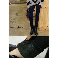 REDOPIN - Brushed-Fleece Skinny Pants