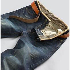 Izme - Distressed Straight-Cut Jeans