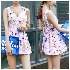 Jumei - Print Swimdress