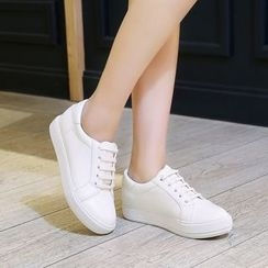 Shoes Galore - Faux Leather Sneakers