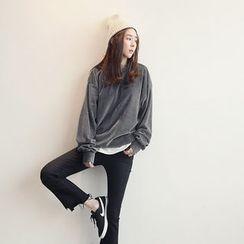 NANING9 - Cotton Velvet Pullover